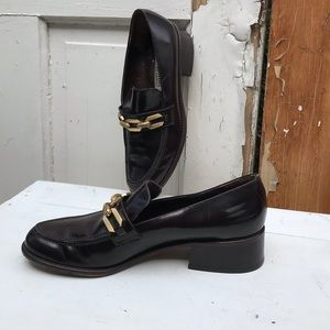 Brighton brown leather loafers Size 8